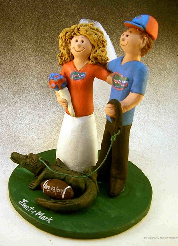Mascot wedding cake topper