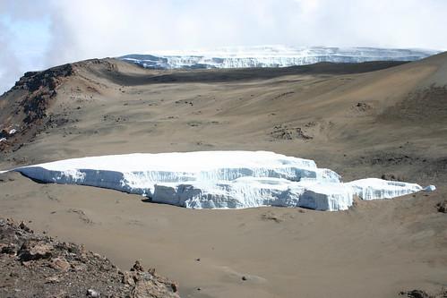 Glacier on Mt Kilimanjaro