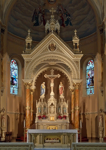 Saint Anthony of Padua Roman Catholic Church, in Saint Louis, Missouri, USA - baldachino