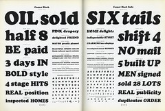 SIX tails (Depression Press) Tags: black vintage typography book letters cooper font letter catalog lettering manual 1934 specimen typeface italic atf typedesign americantypefounders depressionpress