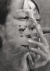 Smoking (combination print) (fundaaax) Tags: dangerous smoking drugs ashtray addiction tabacco inhale