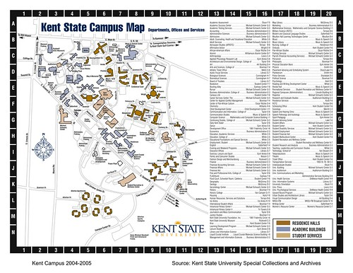 Image Gallery Kent State University Map: Map Of Kent State At Usa Maps