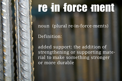 re·in·force·ment