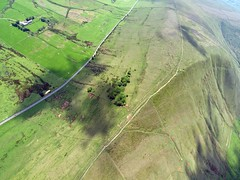 Lord's Seat and Rushup Edge from my paraglider harness @ 3000ft (DryRot) Tags: england landscape peakdistrict wideangle olympus paragliding soaring advance thermal e330 alpha3 zd fourthirds freeflight rushup esystem bryanhindle