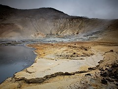 Boiling sands (Andri Elfarsson) Tags: pictures desktop camera trip travel summer wallpaper vacation holiday color colour art apple nature colors rock canon landscape island iceland high highresolution rocks imac photos quality fineart fine large reykjavik full size clay area resolution fullresolution l 40 sands 2008 geothermal boiling icelandic holyday andri krsuvk 17mm krisuvik seltn freedesktop kyrr freewallpaper geothermalarea landscapephotographer summer2008 1740canon elfarsson andrielfarsson ljosmynd boilingsands canon17mm40l