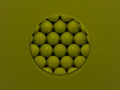 Inside the kissing spheres (fdecomite) Tags: yellow packing sphere math inversion stacking tiling povray