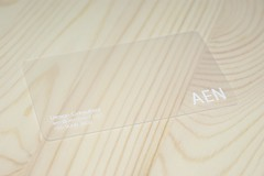 AEN Meishi (business card) (Aen Tan) Tags: plastic clear silkscreen transparent businesscard namecard aen meishi polyfrost