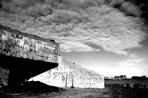 German bunker and sky, Koudekerke, the Netherlands by Artz!