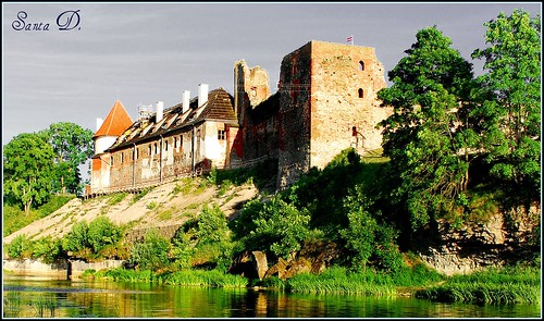Castle of Bauska in Latvia