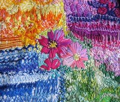 Different stitches (kayla coo) Tags: flower colour art stitch handmade embroidery decorative sewing textile stitches fiberart stitched threads textileart fibreart kaylacoo