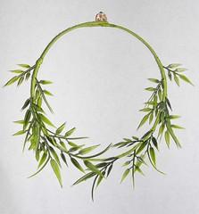 Verde que te quiero verde... (japaya) Tags: naturaleza verde nature leaves hojas necklace cotton collar alambre algodn