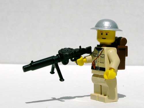 BrickArms Lewis gun and Brodie helmet prototypes