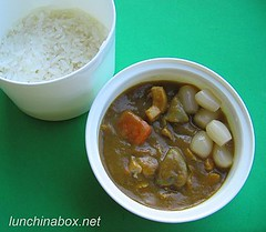 Japanese curry bento lunch for preschooler