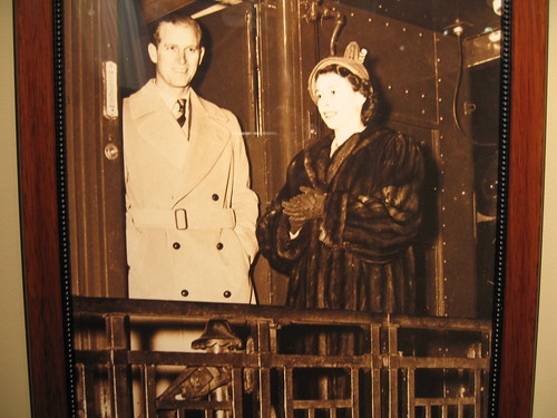 Princess Elizabeth & the Duke of Edinburgh on a Canadian rail car