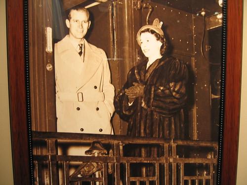 Princess Elizabeth & the Duke of Edinburgh on a Canadian rail car