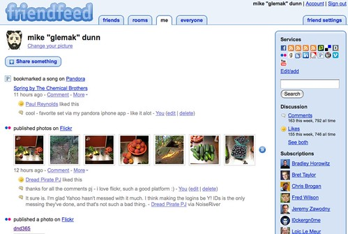 friendfeed for blog post