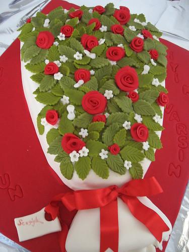 çiçek buketi pasta 014