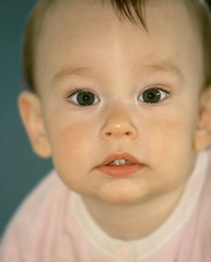 close up baby portrait (volare2004) Tags: boy portrait baby white macro cute parenthood girl face childhood closeup kid big eyes toddler infant european child open small daughter young adorable son orphan foster tot parenting adoption caucasian widely