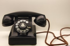 Bell Telephone (Harpo42) Tags: old black vintage logo wire phone bell desk telephone dial retro system numbers oldfashioned mabell rotatary
