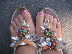 New Sandals & Toe Ring (seaotter22) Tags: peace sandals toering