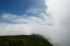 南狩場は雲の中