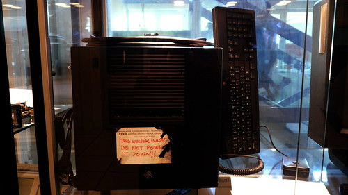 This machine is a se[rver!] DO NOT POWE[R IT] DOWN!! (Courtesy of Cory Doctorow)