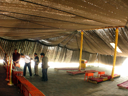 Guinness World Record largest tent made from yak wool at the Arou Buddhist Temple in Arou, Qinghai Province, China