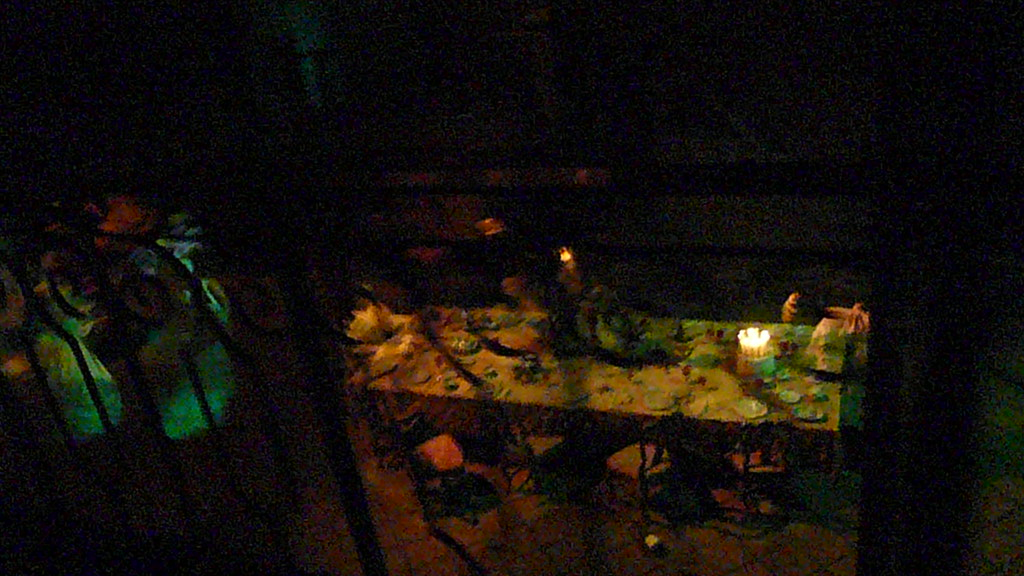 Haunted Mansion dining table with Hidden Mickey