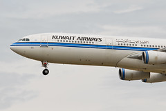 Kuwait Airways Airbus A340-313 9K-ANB Bayan (21220) (Thomas Becker) Tags: plane germany airplane geotagged deutschland airport nikon hessen frankfurt aircraft airbus kuwait d200 tamron flugzeug spotting fra a340 200500 bayan fraport kwi rheinmain a340300 kuwaitairways noseshot eddf aerotagged luftfahrzeug a340313 9kanb aero:airport=eddf 080801 fwwjz aviationphoto ku171 kuwaitairwayscom msn90 230395 070495 geo:lat=50039323 geo:lon=8596877