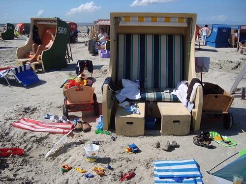 strandkorb spiaggia mare nord