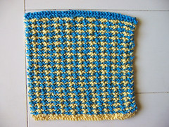 Swedish tweed dishcloth
