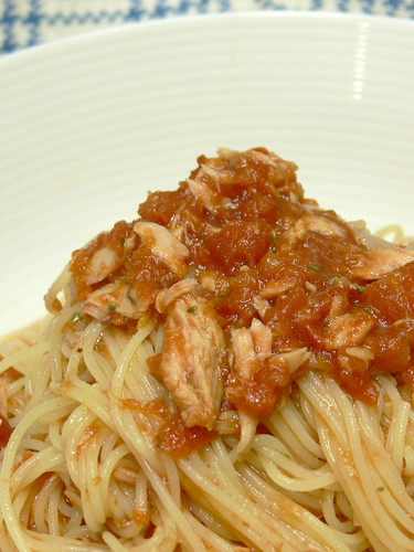 冷製トマトスパゲティ ツナ入り