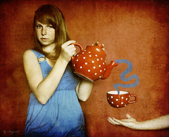 magic tea party. (Ingrid Photography) Tags: party people texture ingrid me photoshop self myself tea magic surreal ps explore layer colr ingus memoriesbook rteg ingridregos ingridregs
