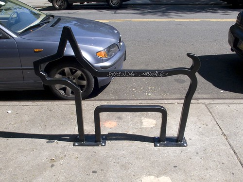 David Byrne Bike Rack on LaGuardia Pl