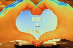 30: Don't Panic! (Acie Creations) Tags: selfportrait hands heart laptop nails utata h2g2 ip dontpanic ironphotographer hplaptop xdays utata:project=ip42 acwmaiden