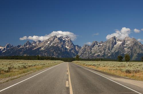 Grand Tetons, via the road