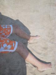 Summer (EiaOlaf) Tags: italy sun texture beach olaf sand friend brother brotherhood eia seeyousoon eiaolaf