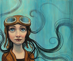 """Flight"" (verpabunny) Tags: kellyvivanco flight original acrylic painting alverno"