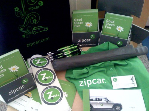 Zipcar Swag for National Digital Media Day