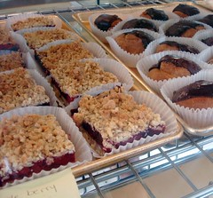 Fruit bars and cream puffs at Sultan Bakery