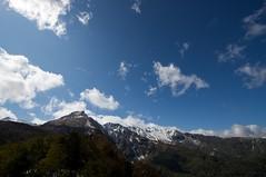 黒岳から続く雪化粧の山並み