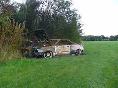 DSC00527 (Greendyker) Tags: park car edinburgh motorbike crime stolen burntout craigmillar huntershall