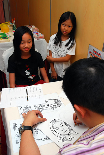 Caricature live sketching for birthday party