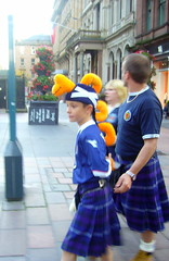 After the Game (indigo_girl) Tags: street family blue boy woman man norway scotland football kilt scottish pride buchanan hampden 00 tartan glesga sporran glagow thebeautifulgame fitba vutbol scotlandvnorway