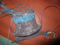 Socks for Hub - Cuff done