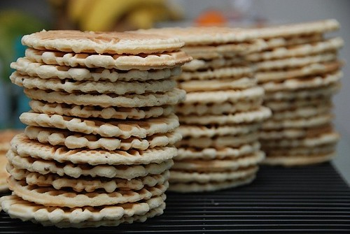 pizzelle stacks