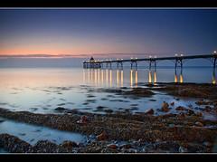 Clevedon Pier (Roger.C) Tags: longexposure sea england beach water night canon dark pier seaside rocks dusk sigma somerset coastal clevedon