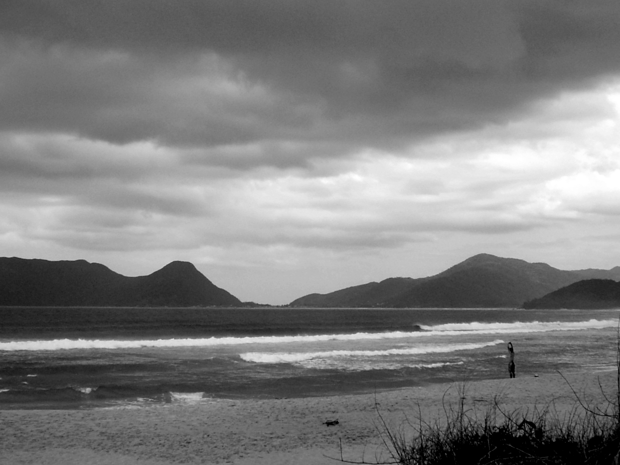 Alongamento na praia