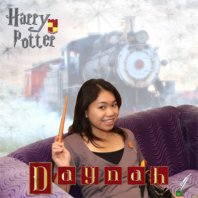 Harry Potter Scrapook Page