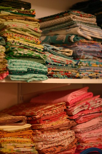 fabric stacked